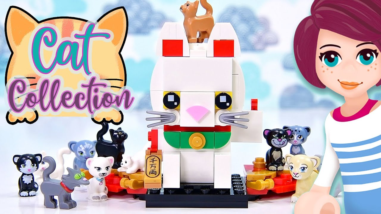 Adding to my lego cat collection - Lucky Cat build & review