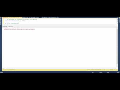 MS SQL 2012 - How to Fix Error Arithmetic overflow error converting int to data type numeric.avi