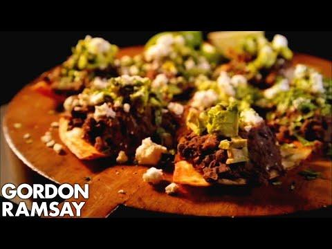 Spicy Black Beans with Feta and Avocado - Gordon Ramsay