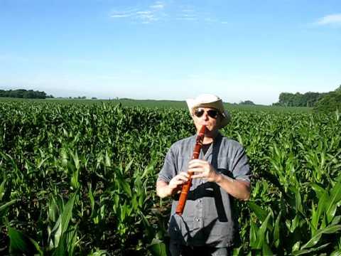 (Corn) Fields of Green: Laughing Crow Hawaiian Koa Em Flute