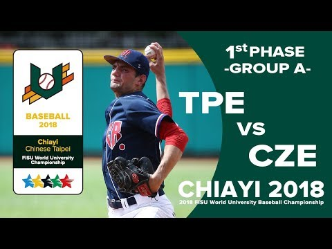 🔴ᴴᴰ Baseball – Group A – TPE vs CZE - FISU 2018 World University Championship
