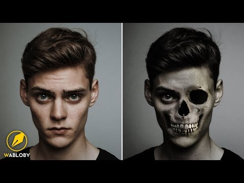 Skull Zombie Face Tutorial | Photoshop