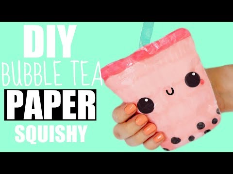 HOW TO MAKE A PAPER SQUISHY BUBBLE TEA