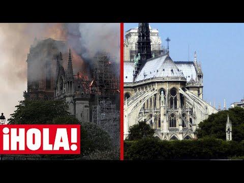 La catedral de Notre Dame, antes y después del fuego