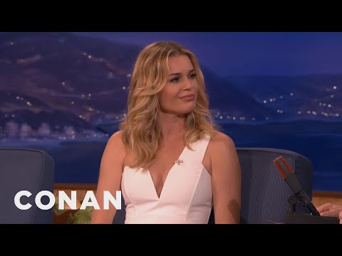 Rebecca Romijn's Nude Body Paint-Off Challenge  - CONAN on TBS