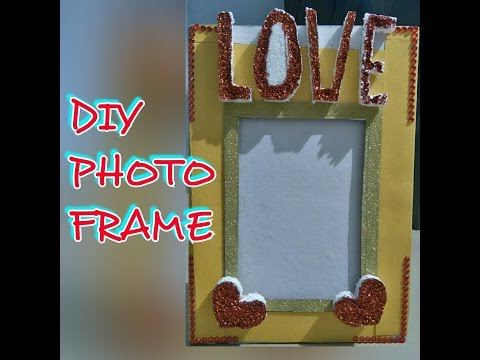 HOW TO MAKE LOVELY PHOTO FRAME AT HOME IN FEW STEPS | WITH CARDBOARD ...