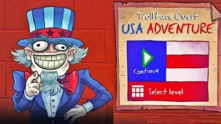 Troll Face Quest USA Adventure Funny Clips - Win and Fail All Levels