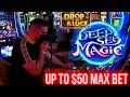 High Limit DEEP SEA Magic Drop & Lock Slot Machine | Up To $50 Bets | SE-1 | EP-13