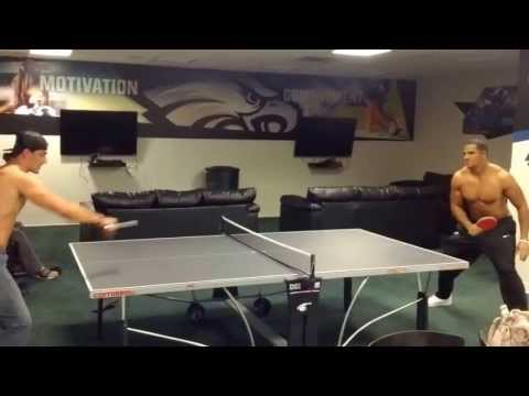 Clay Harbor vs. Riley Cooper epic ping pong match final point
