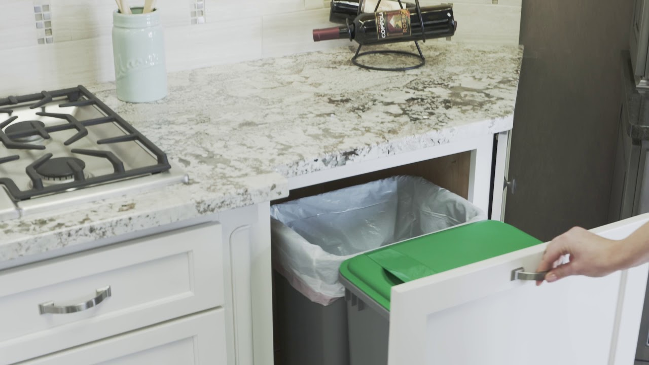 Large Kitchen Waste Basket from Fieldstone Cabinetry