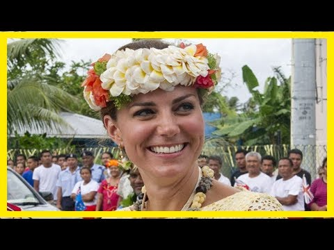 Breaking News | Duchess of cambridge gets her first gong... from tuvalu