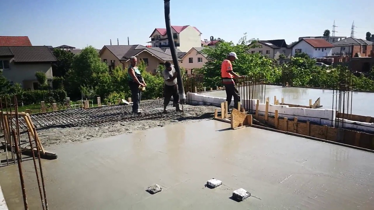 etapa 5 beton placa peste parter turnare beton c20 25. Black Bedroom Furniture Sets. Home Design Ideas