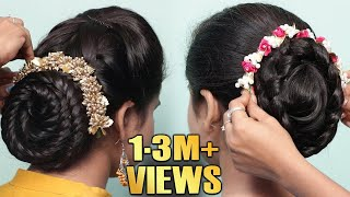 2 Easy Bun Hairstyles with Trick for Wedding/party | Hair style girl | Cute hairstyles 2019