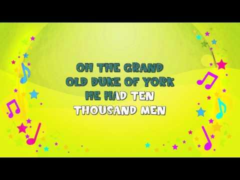 The Grand Old Duke of York | Karaoke | Marching Song | Nursery Rhyme | KiddieOK
