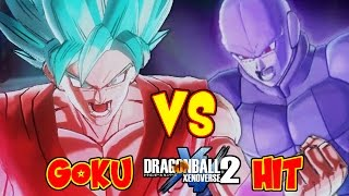 Dragon ball xenoverse 2 : goku super saiyajin blue kaioken x 10 vs hit despertado epico | rafyta