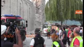 Amatrice, nuova scossa di terremoto durante le operazioni di recupero