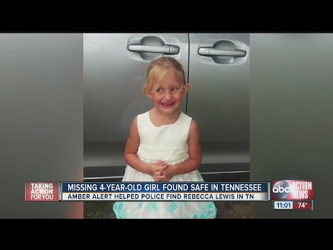 4-year-old Rebecca Lewis found safe in Tennessee