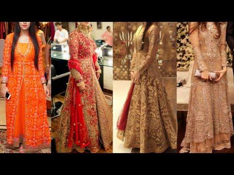 Party wear kurta with Lehenga design ideas/Embroidered Lehenga kurta design ideas/Indo western dress - 동영상