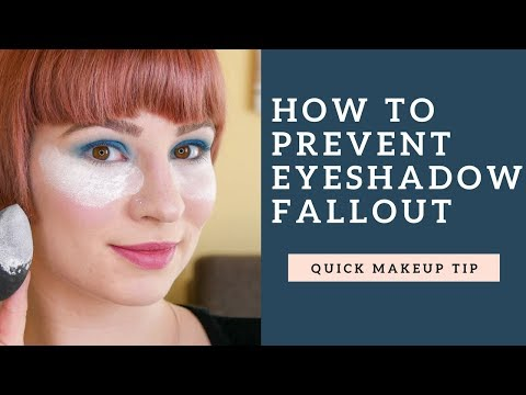 How To Prevent Eyeshadow Fallout - Catch Fallout With Powder!!