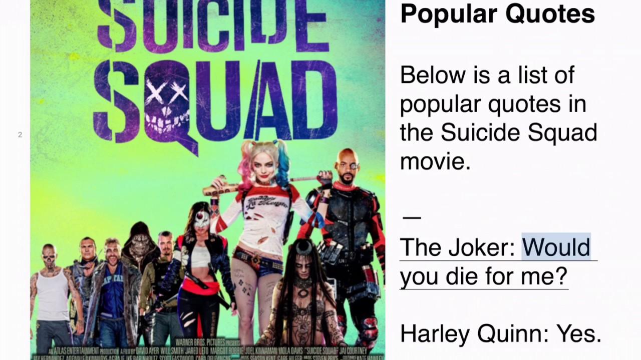 Suicide Squad Popular Quotes