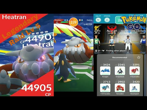 Pokemon Go Gen 4 Heatran Raid!