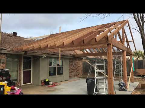 Cedar patio cover build free estimates 817-631-9788