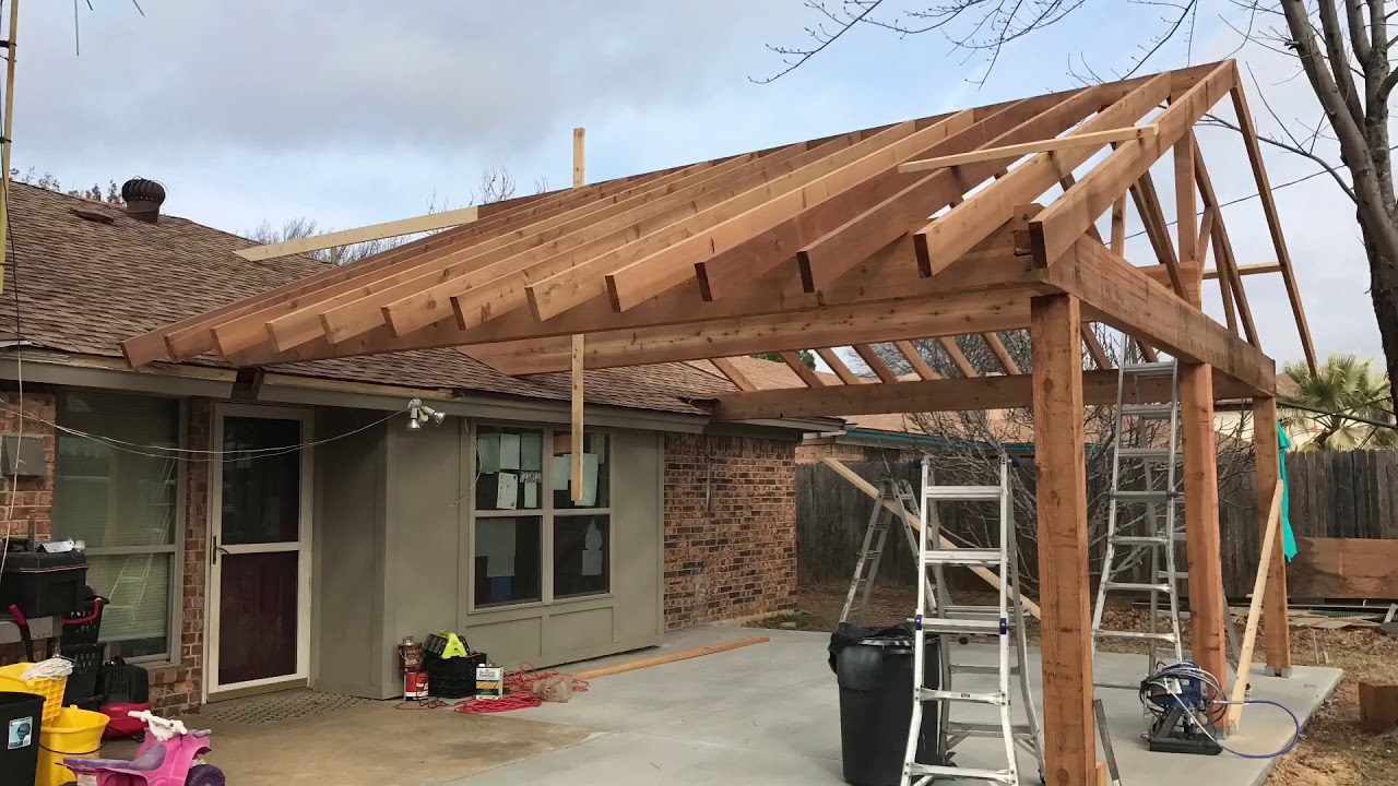 Cedar Patio Cover Build Free Estimates 817 631 9788 Youtube