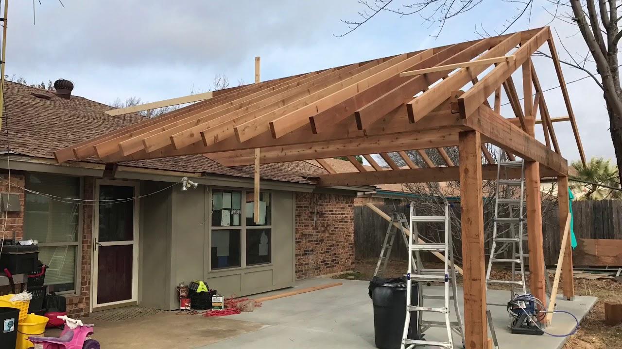 cedar patio cover build free estimates 817 631 9788