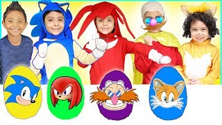 NEW Sonic Play Doh Surprise Eggs with Toys for Kids Tails Shadow Dr Robotnik Amy Rose Super Sonic