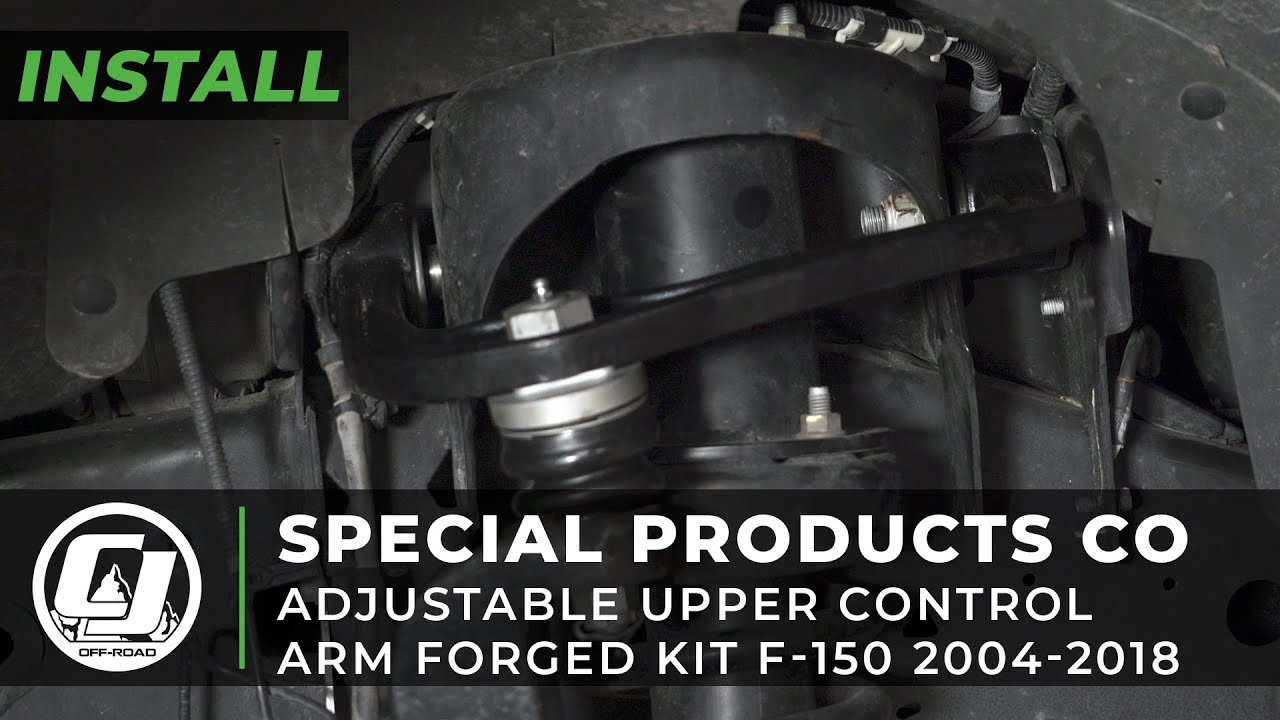 2018 Ford F 150 Install Spc Forged Adjustable Upper Control Arm Kit Youtube