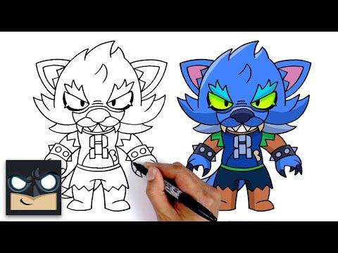 How To Draw Werewolf Leon | Brawl Stars