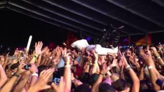 Janelle Monae - Crowd Surfing at Coachella 2013