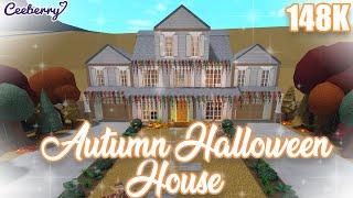 Bloxburg | Autumn Halloween House 148k No Large Plot | Speed Build