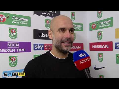 Pep Guardiola respectfully praises Burton for reaching semis after 9-0 win | Post-Match Interview