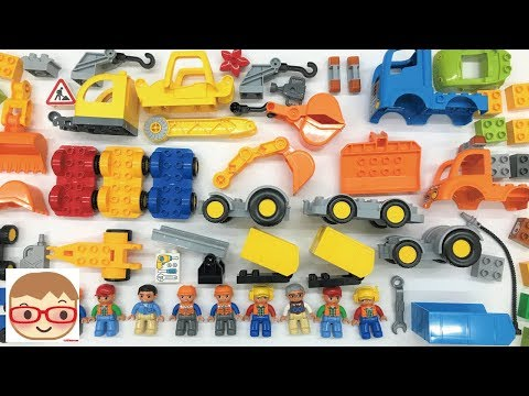 Construction Vehicles Toys for Kids - Car Assembly Videos for Children - Build and Play