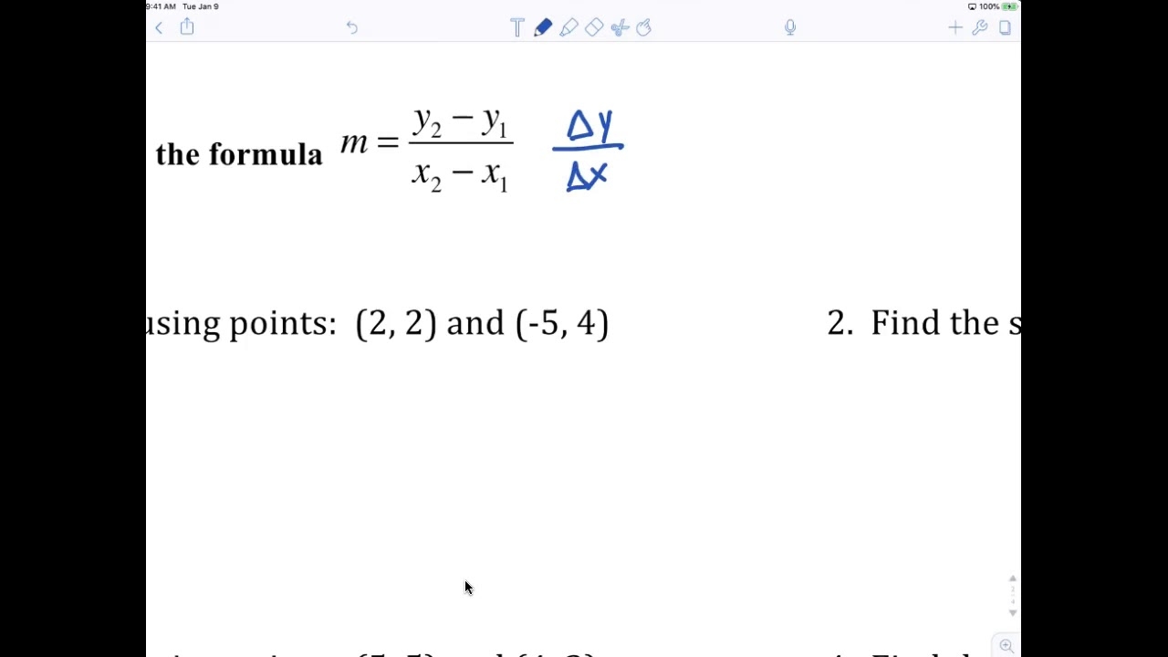 Algebra 1 7th Grade Slope worksheet - YouTube [ 720 x 1280 Pixel ]