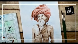Sadhu Water Colour Painting | Drawing Tutorial