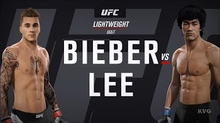 EA Sports UFC 2 - JUSTIN BIEBER vs BRUCE LEE | Gameplay (HD) [1080p60FPS]