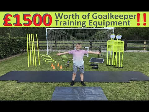 Young Goalkeeper Has OVER £1500 Of Goalkeeper Training Equipment !! 9yr Old Goalie Training Setup