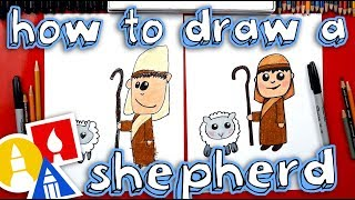 How To Draw A Shepherd - Nativity