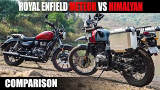Best Royal Enfield for Adventure  Meteor vs Himalayan