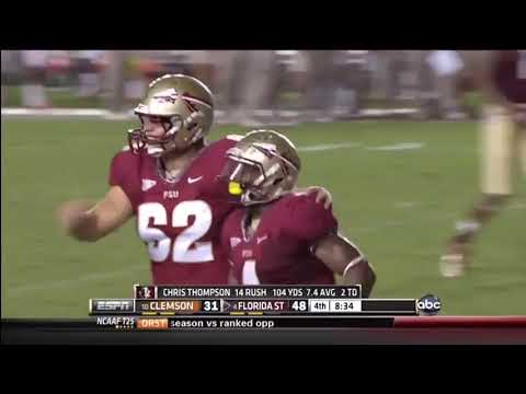 Seminole Moment: Chris Thompson's 27-Yard TD Run vs. Clemson (2012)