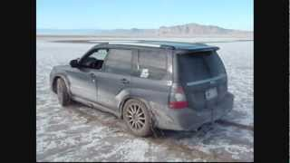 Subaru Forester Sports STI on the Bonneville Salt Flats doing Gymkhana in Top Gear with COBB tuning