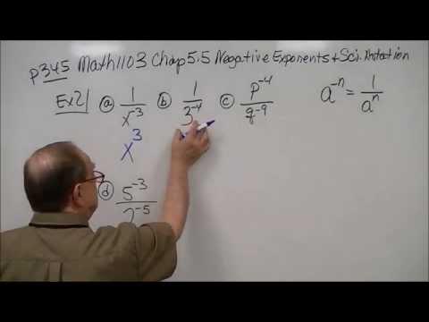 M1103 Chap 5.5 Negative Exponents & Scientific Notation