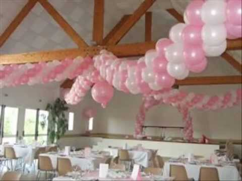 Decoration ballon anniversaire rabat youtube - Idees decoration bapteme fille ...