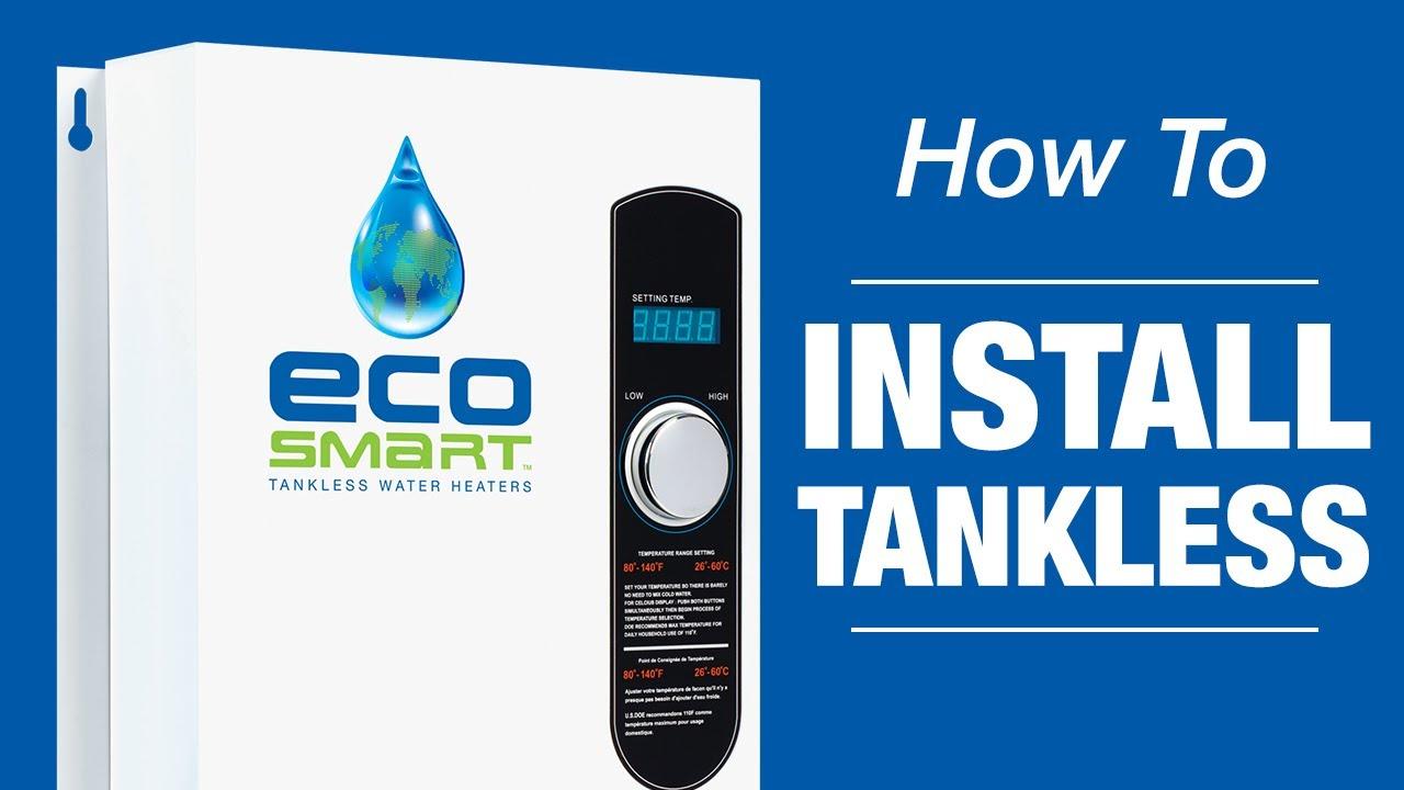 ecosmart tankless water heaters installation [ 1280 x 720 Pixel ]