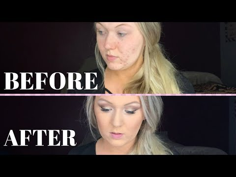 DRUG STORE MAKEUP TUTORIAL//trying to follow a Casey Holmes tutorial video thumbnail