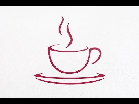 Tutorial illustrator for Beginners Simple Caffe Logo Design | No CorelDRAW X6 | X7 | Coffee Logo