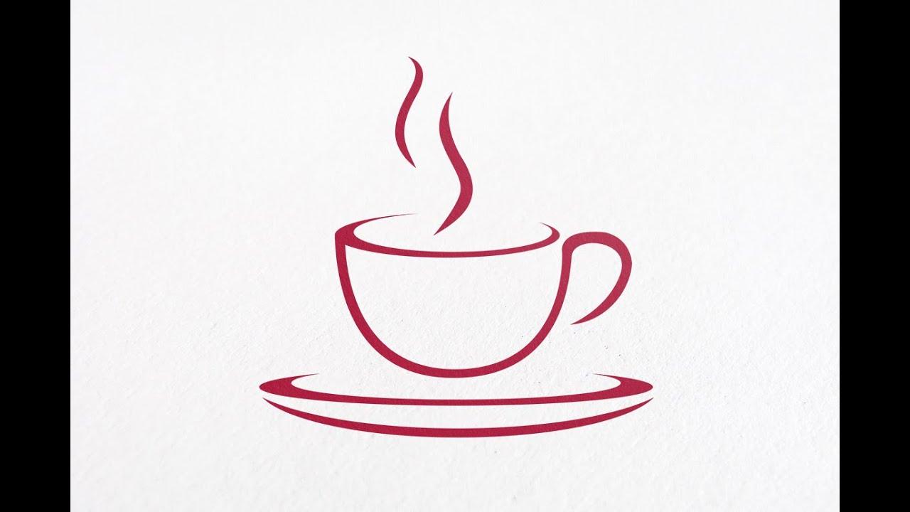 Tutorial illustrator for Beginners Simple Caffe Logo Design : No ...