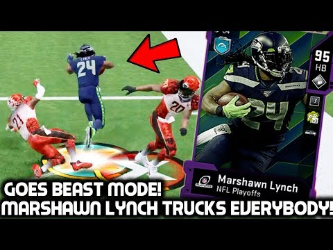 MARSHAWN LYNCH RUNS OVER DEFENDERS! HE CAN'T BE TACKLED! Madden 20 Ultimate Team
